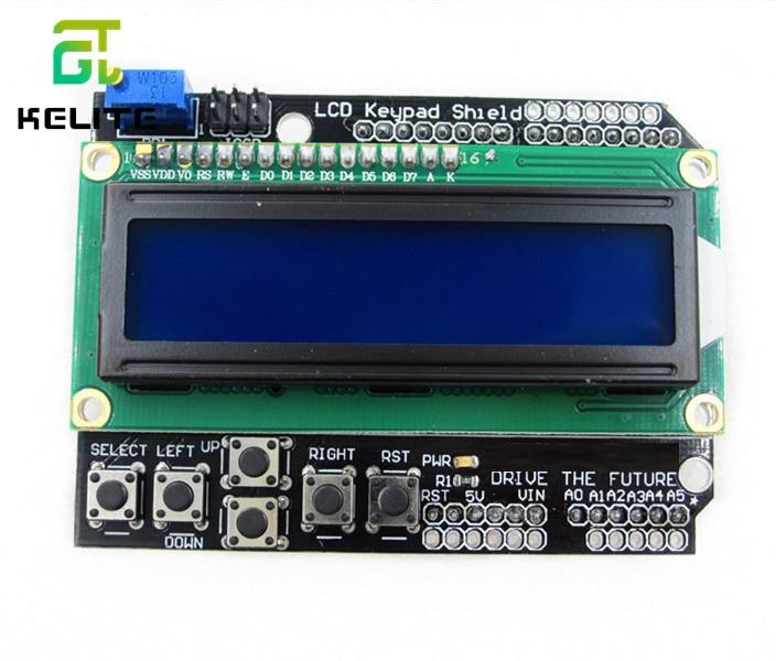 1pcs LCD Keypad Shield LCD1602 LCD 1602 Module Display For Ardu ATMEGA328 ATMEGA2560 Raspberry Pi UNO Blue Screen