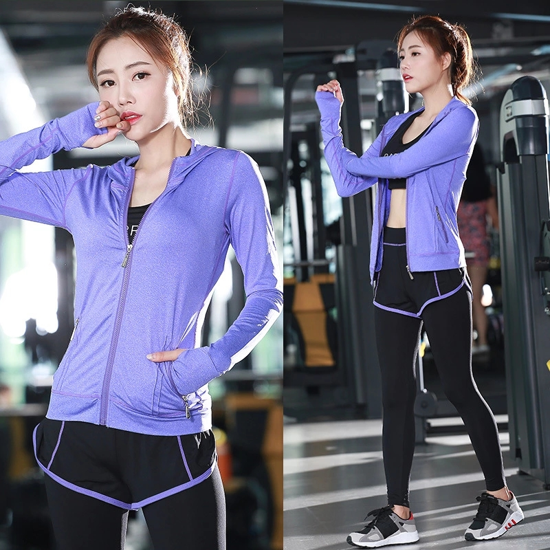 ФОТО Free delivery Yoga woman A three-piece sets Hat style frauen outdoor fitness running patchwork sport suit