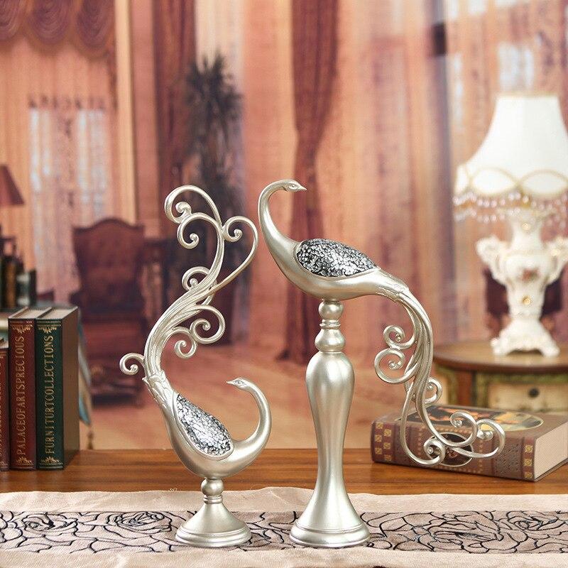 Dessin animé à la main Phoenix oiseau résine artisanat décoratif décoration de jardin Articles d'ameublement Arts moderne décor à la maison