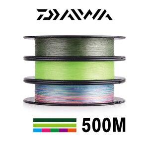 Image 2 - DAIWA 8 Gevlochten Vislijn Lengte: 500 m/550yds, 30 80lb, Diameter: 0.2mm 0.35mm Japan PE gevlochten lijn J Vlecht Lijn ZEE VISSEN