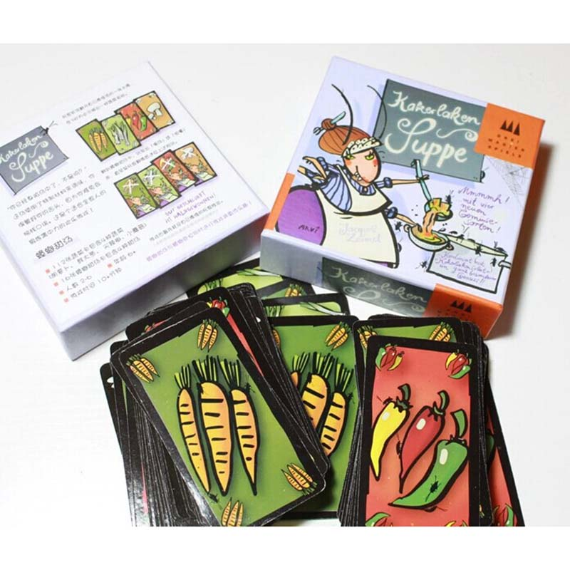 Kakerlaken Supper/Salad Board Games For 2-6 People English Cards With Free Shipping