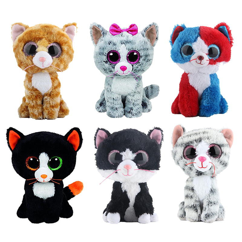 Ty Beanie Boos Stuffed   Plush Animals Black Cat Doll Toys for Children Gift  6 1e731109389c