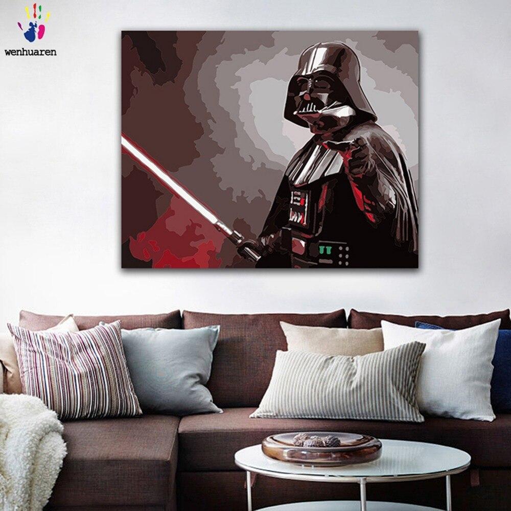 diy painting by numbers star wars darth vader darth revan. Black Bedroom Furniture Sets. Home Design Ideas