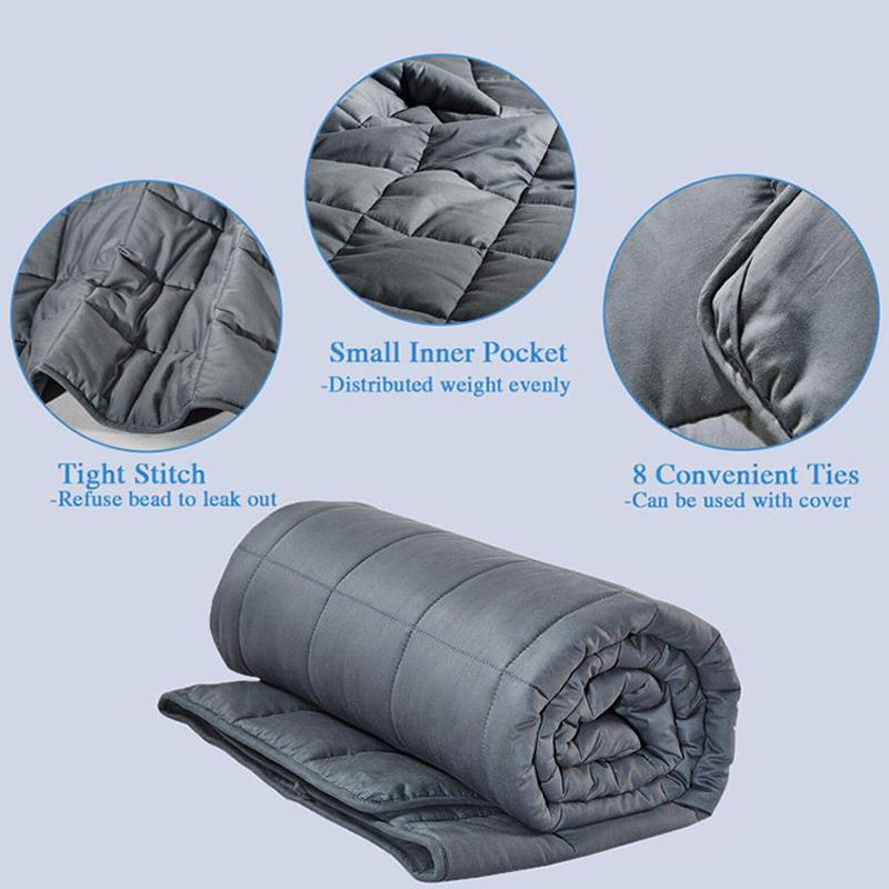 comfort weighted blanket wearable cotton Adult Decompression Gravity Blankets Sleep Aid relieve anxiety Weighted Quilt bedding in Blankets from Home Garden