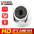 """720 P WI-FI Câmera IP Cúpula De Áudio 1/4 """"CMOS Lente de 3.6mm IR 20 m Segurança Vídeo Night Vision P2P Nuvem CCTV IP Câmera Dome Com Áudio"""