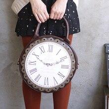f5cec03447fea 2018 الأزياء خمر جولة ساعة حقيبة أنيقة اليابان لوليتا نمط 3 طرق حقيبة كتف  سيدة الفتيات أليس حقيبة الظهر حزمة