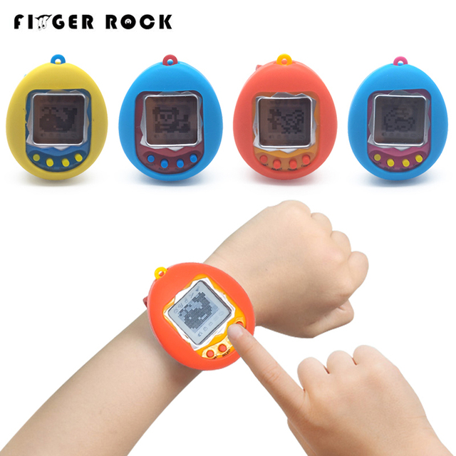 Finger Rock Tamagotchi 168 Pets in One Nostalgic 90S Virtual Pet Toy Electronic Pets Keychains Watch Toys For Children Gifts