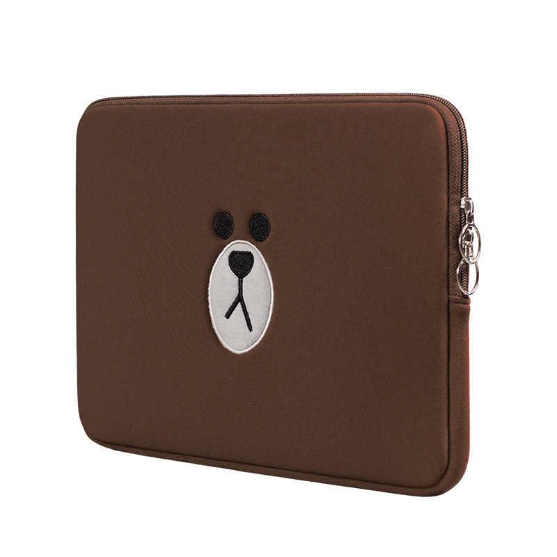 Костюм «бурый медведь» Сумка для ноутбука 11 13 15,6 дюймов для Macbook Air Pro 13 15 чехол для ноутбука мешочек для таблеток Чехол для IPad 7,9 9,7