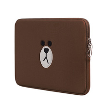 Brown Bear Cartoon Laptop Bag 11 13 15.6 Inch For Macbook Ai