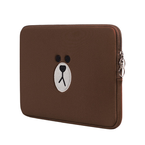 Brown Bear Cartoon Laptop Bag 11 13 15.6 Inch For Macbook Air Pro 13 15 Notebook Sleeve Tablets Pouch Case for IPad 7.9 9.7 Pakistan