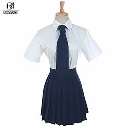 New-Arrival-Women-Short-Sleeves-Skirt-Japanese-School-Uniforms-Set-With-Tie-Girl-Sailor-Costumes