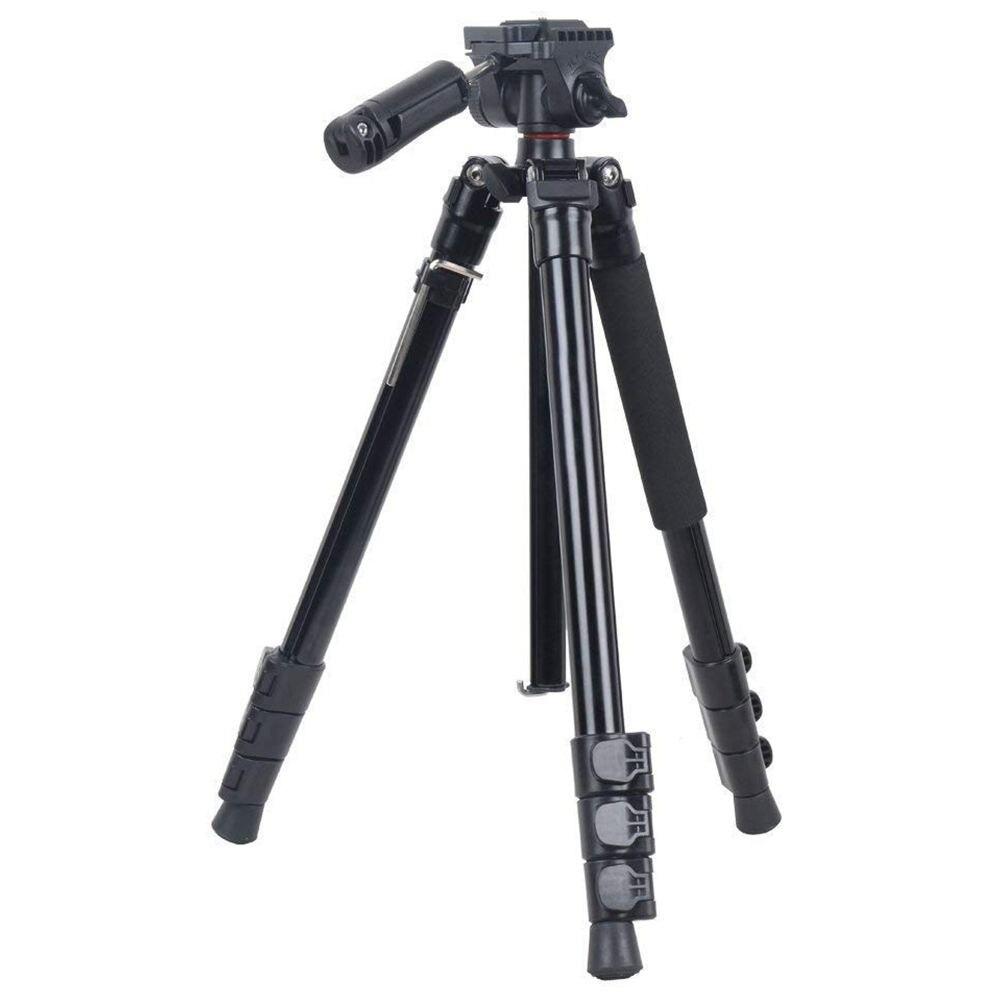 KINGJOY BT 158 Universal Travel Tripod Selfie Stick Stand, Portable Lightweight 4 Section Adjustable Aluminum alloy Camera Vid