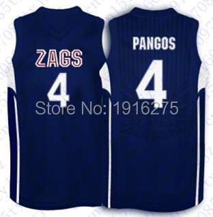 more photos b3ae6 24be3 US $36.0 |Ncaa Gonzaga Bulldogs jersey Mens #13 Kelly Olynyk jersey #4  Kevin Pangos jersey Blue White Men's Embroidery basketball jerseys-in ...