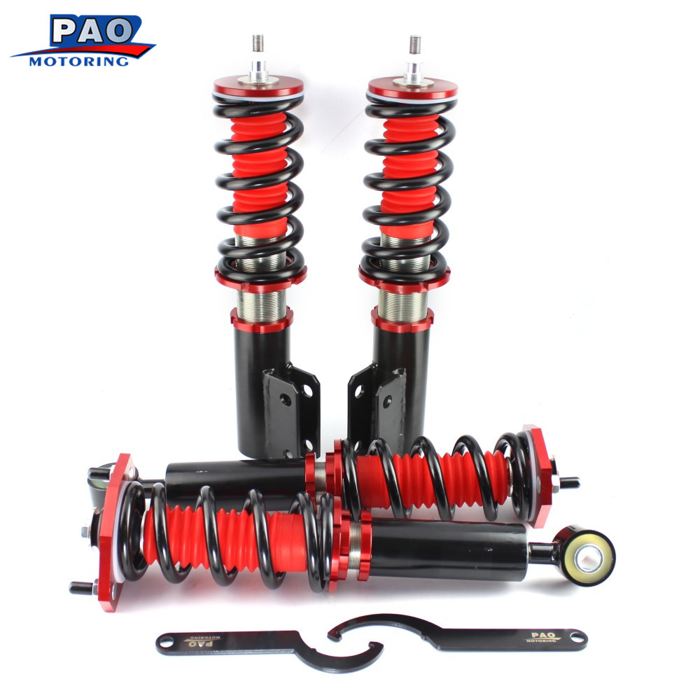 Pour MITSUBISHI 3000GT FWD 1991-1999 3.0L Ensemble Complet Coilover Printemps Kit Bobine Printemps Chocs Amortisseur Suspension Entretoises
