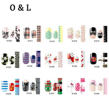 Hot Full Cover Nail Patch Stickers 56Designs 1pcs Mix Designs Nail Tips Wraps,DIY Foils Polish Nail Beauty Decoations