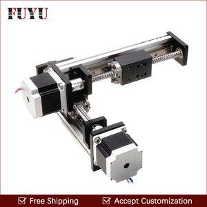 FLS40 500mm * 300mm carril de guía lineal etapa módulo deslizante tornillo de bola para XY eje brazo robótico varilla roscada aceptar personalización