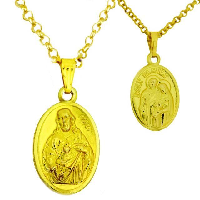 Jesus Anhänger Vintage Halskette Christliche Halskette Gold farbe ...