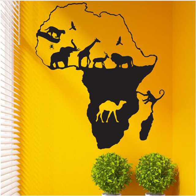 hot wall stickers African Safari Wall Stickers Home Decor Nursery ...