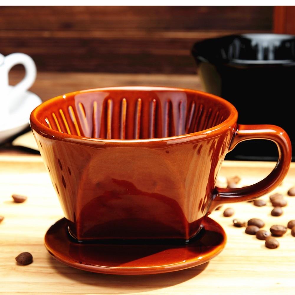 FeiC 1pc coffee dripper ceramic dripper Three holes 102 1 4cups for barista|ceramic dripper|coffee dripper ceramic|coffee dripper - title=