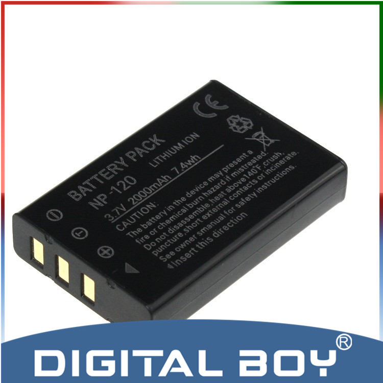 Digital Boy Drop Shipping 1pcs NP 120 NP120 NP 120 2000mAh 3 7v Li ion Camera
