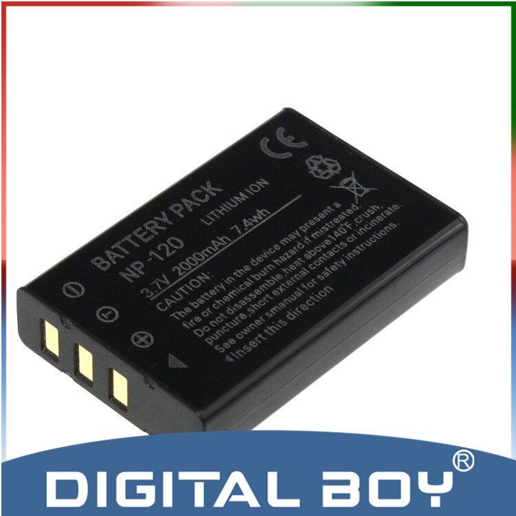Menino Digital Transporte Da Gota 1 pcs NP120 NP-120 NP 120 2000 mAh 3.7 v li-ion bateria para câmera fujifilm fuji f10 f11 603 m603 zoom z1
