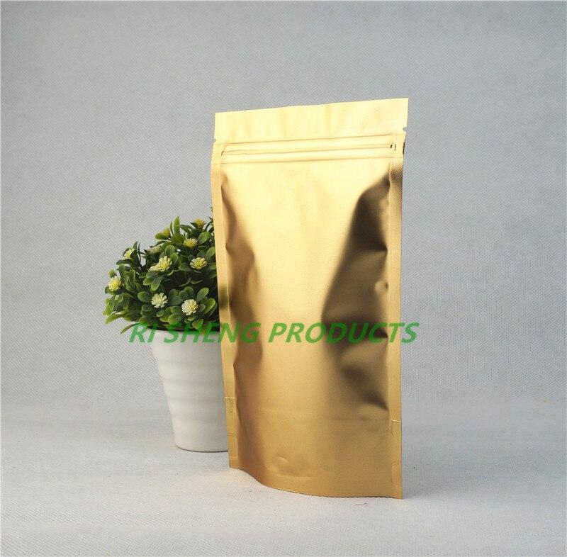 Aluminum Foil Matte Clear Gold Ziplock Bags Mylar Pouches Packaging Resealable