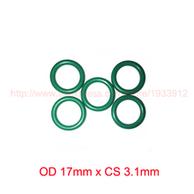 OD 17mm x CS 3.1mm viton fkm rubber seal o ring oring o-ring gasket 2piece size 550mm 542mm 4mm viton o ring seal dichtung green gasket of motorcycle part consumer product o ring