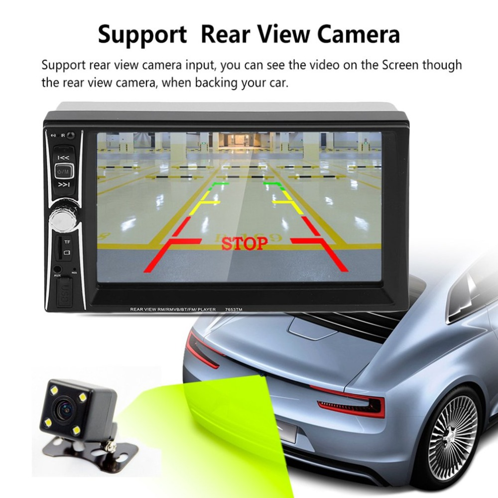 1080P HD 7inch Car Radio MP5 DVD Player Touch Screen Bluetooth 2 Din Car Audio Music Player Support Rear View Camera professional 7 inch touch screen car radio mp5 player bluetooth mp5 1080p movie support rear view camera car audio 2 din