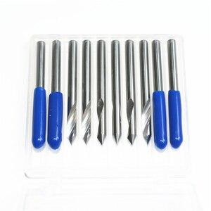 Image 5 - 3.175mm * 60degrees * 0.1mm 1pcs 2pcs 5pcs 10 pcs, 1 fluit spiral graveren router bit, taper frees, aluminium koper hout tool