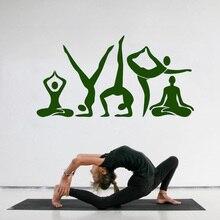 YOYOYU Wall Decal  Yoga Meditation Center Pose Beauty Health Stickers Removable Relax Room Decoration Art Decor DIY ZW341