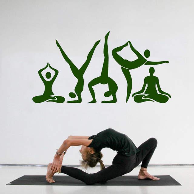 Yoyoyu Wall Decal Yoga Meditation Center Pose Beauty Health Wall Stickers Removable Relax Room Decoration Art Decor Diy Zw341 Wall Stickers Aliexpress