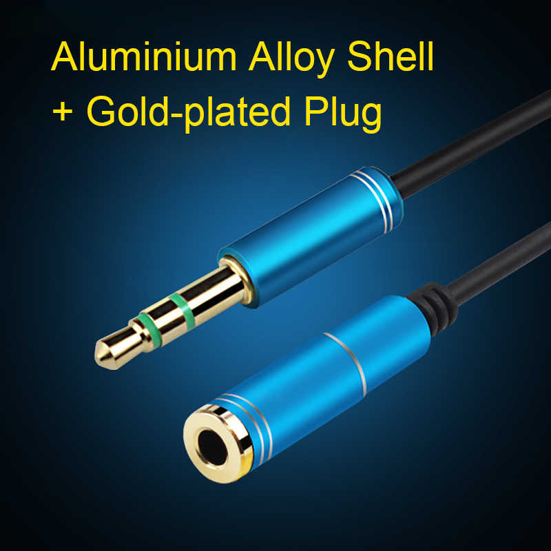 Penuh Semangat Earphone Kabel Jack 3.5 Mm MALE To Female AUX Audio Kabel 1 M 1.5 M 2 M 3 M 5 M untuk Komputer Ponsel Speaker