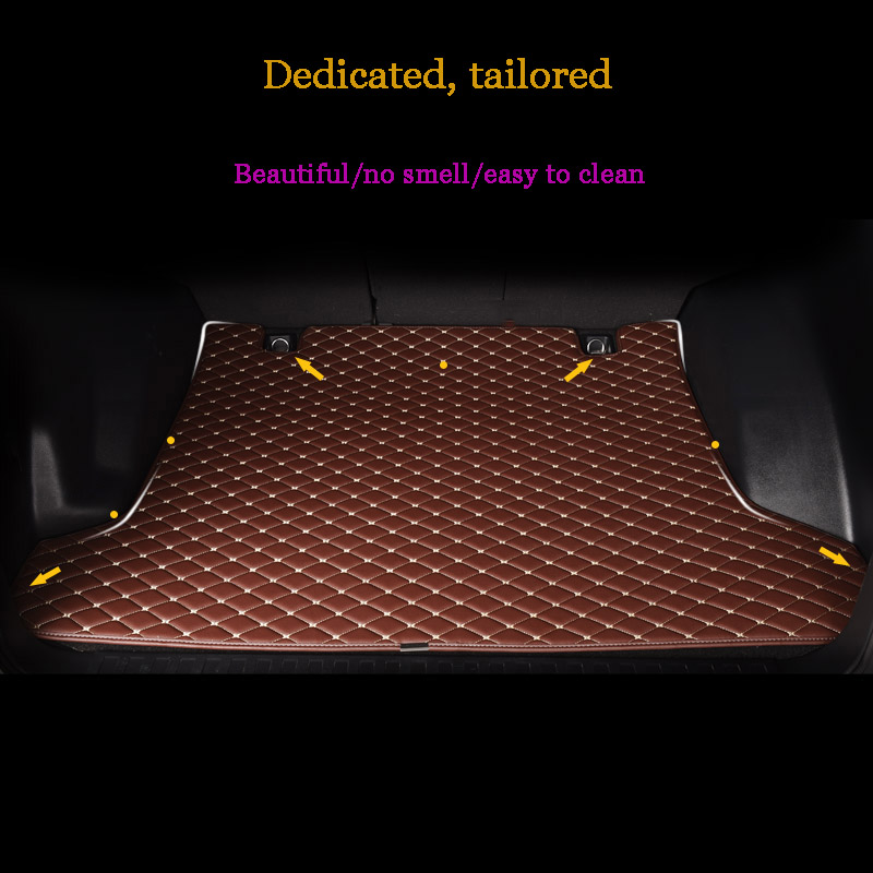 custom car trunk mat For Mitsubishi ASX Lancer Outlander Pajero V73 V97/V93 Eclipse expo galant Cargo Liner car accessories