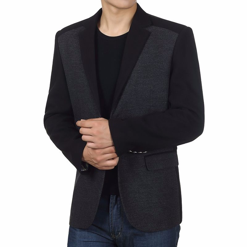 Man Elegance Basic Blazer Black Slim Fit Jackets Men Business Casual Short Blazers Plus Size Terno Masculino Outfits Costume Homme (4)