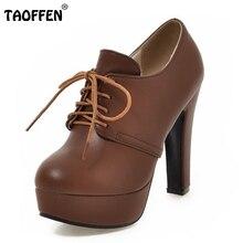 Größe 31-47 Damen High Heels Pumps Plattform Runde Kappe Kreuzgurt Starke High Heel Schuhe Frauen Mode Büro dame Schuhe
