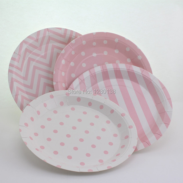 120pcs Light Pink Happy Birthday Round Tableware Party Paper Plates for Girl Party Supplies Wedding Decoration & 120pcs Light Pink Happy Birthday Round Tableware Party Paper Plates ...