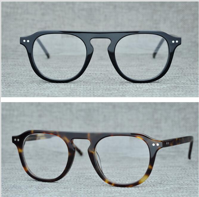 LKK Men s high quality large frame retro spectacle frame large face frame myopic glasses transparent