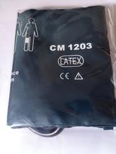 Envío gratis kmtkeramed CM1203 brazaletes de presión arterial reutilizables de nylon, tamaño adulto, dos tubos, vejiga TPU