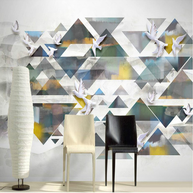 Home Improvement 3D Non Woven Wallpaper For Walls 3d Decorative Geometric Pattern Of Modern Wallpapers
