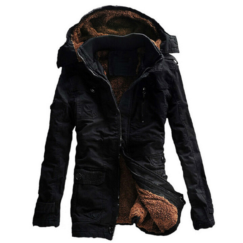 019df0ab0 US $48.03 41% OFF|Winter Jacket Men Casual Thick velvet Warm Jackets Parkas  hombre Mens cotton Windbreaker army Hooded jacket long trench coat-in ...