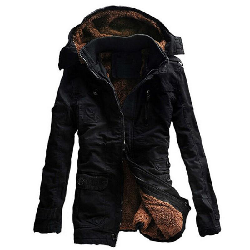 Thick Warm Parkas Coat Winter Jacket Men Casual Outwear Hooded Collar Windbreaker Jackets