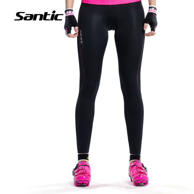 Santic Women s Cycling Long Pants Spring Summer Anti UV Breathable Trousers Padded MTB Bike Tights