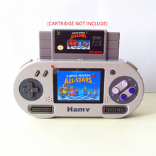 HAMY 16-bit Entertainment System 3.5inch portable handheld game player support both North America & Japanese Super NES Games