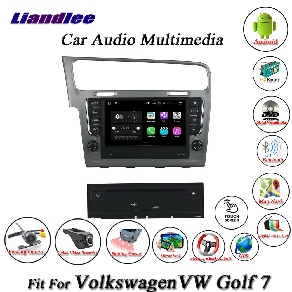 Liandlee Car Android System For Volkswagen VW Golf 7 MK7 2012~2018 Radio CD DVD Player GPS Nav Navigation HD Screen Multimedia