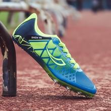 Детские кроссовки с шипами для бега; синие кроссовки для мальчиков и девочек; сезон весна-лето; нескользящие кроссовки для детей