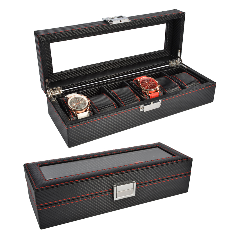 2020 New 6 Grids Watch Case Watch Boxes Casing for Hours Sheath for Hours Box for hours Watch2020 New 6 Grids Watch Case Watch Boxes Casing for Hours Sheath for Hours Box for hours Watch