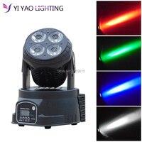 Led Moving Head Wash 4x20w Mini Music Sound Stage Party lumiere Laser Dj Dmx Light