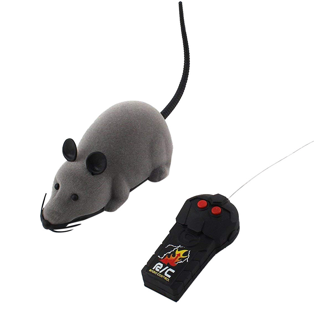 Toys For Children Gifts  RC Funny Wireless Electronic Remote Control Mouse Rat Pet Toy For Cats Dogs Pets Kids Novelty Gift