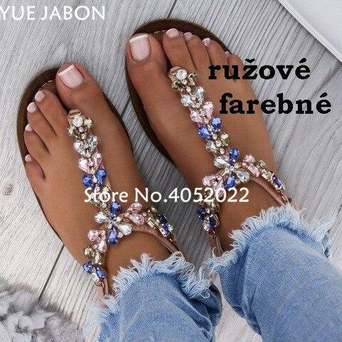 women shoes Women sandals comfort flat sandals Rhinestones summer fashion beach sandals Gladiator Flat Sandals Plus Size Multan