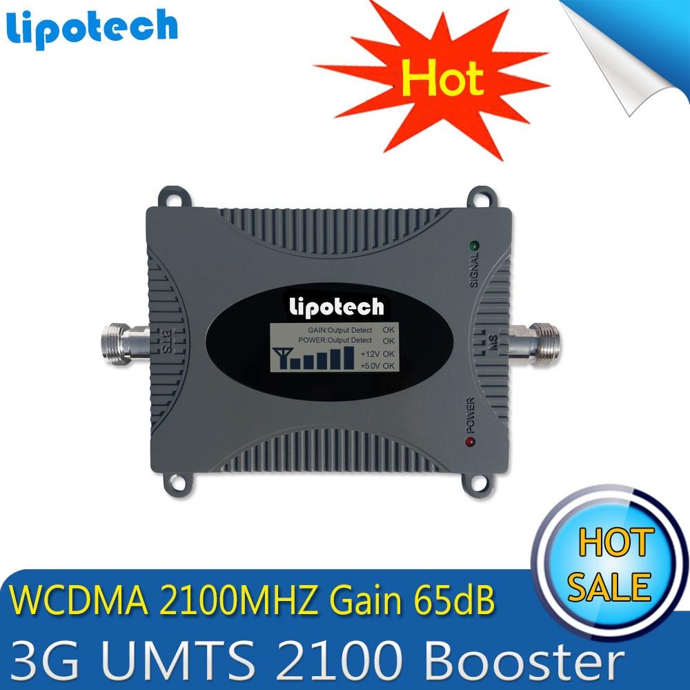 Lintratek 3G Signal Repeater 2100mhz WCDMA 65dB Gain Signal Amplifier 3g Repeater 2100mhz Signal Booster With LCD Display